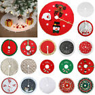 Christmas Tree Skirt Mat Party Snow Mat Cover Home Party Xmas New Year Decor