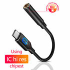 2x USB Type C Adapter Port to 3.5mm Aux Audio Jack Headphone Cord Earphone Cable