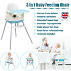 3 In 1 Baby High Chair Cozy Toddler Feeding Seat Collapsible Removable Portable