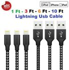 Heavy Duty Lightning Charging Cable For Iphone 6 7 8 Xs Xr 11 Pro 5 Charger Cord