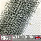 "1""x1"" Welded Wire Mesh Galv Aviary Fence Rabbit Hutch Coop Chicken Run 5m & 10m"