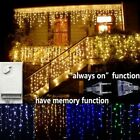 Icicle String Lights Balcony Hanging Curtain Outdoor Droop Light Christmas Decor