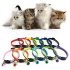 Reflective Nylon Cat Safety Collar with Bell for Cat Kitten