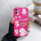 Cartoon Bunny Cute Girl Neon Color Phone Case Cover For Apple iPhone11Pro X XR 7