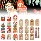 50 100pcs christmas kraft paper gift tags scallop label luggage blank strings