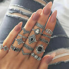 Rings Womens 925 Sterling Silver Adjustable Thumb Wedding Engagement Gift UK