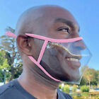 Face Mask Cover With Clear Transparent Mouth Window For Lip Reading Expression