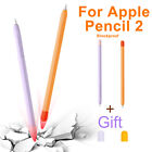 soft protective silicone case non slip cover stylus pen cap holder for apple 2nd