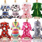 Pet Puppy Dog Jumper Hoodie Winter Warm Apparel Rainbow Clothes Coat Costume UK