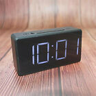 Mirror LED Alarm Clock Night Light Thermometer Digital Clock with USB Charging