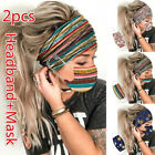 Women Headband  Mask Outdoor Hairband Face Mask Hairband With Buttons new