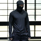 ByTheR Lecture Hood Buff Tee Ninja Style Long Sleeve T-Shirts Lightweight
