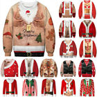 Men Women Ugly Christmas Sweater Sweatshirt Xmas Party Jumper Pullover Tops HOT