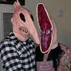 Halloween Adam and Barbara Full Head Mask Large Mouth Scary Monster Cosplay Prop