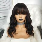 Brazilian Body Wave Full Lace Human Hair Wigs With Bangs Glueless Lace Front Wig