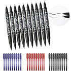 Graphic Drawing Fast Dry Hook Line Twin Tip Sketch Pens Marker Fine Point