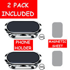 2-Pack Universal 360° Strip Shape Magnetic Car Phone Holder Mount For Cell Phone