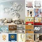 Acrylic 3d Mirror Effect Tile Wall Sticker Living Room Stick On Decal Decor New