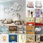 Acrylic 3d Mirror Effect Tile Wall Sticker Room Decors Stick On Art Decal Home