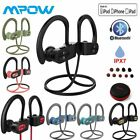 MPOW Stereo Wireless Bluetooth Headphones Noise Cancelling IPX7 Gym Earbuds MIC