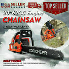 COOCHEER 62CC 20 Gas Chainsaw Handed Petrol Chain Woodcutting 2 Cycle 4HP e 217