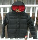 THE NORTH FACE BOYS HARLAN DOWN PARKA-  JACKET- A2TLG-  BLACK / RED- M