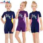 Kids 2.5mm Neoprene Wetsuit Short Jumpsuit Warm Scuba Dive Swimwear Bathing Suit