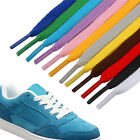 100cm Women Men Kids 8mm Wide Flat Sneaker Shoe Laces Shoes Work Boot Laces New