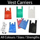 VEST CARRIERS - ALL COLOURS & SIZES * ALL STRENGTHS * Supermarket carrier bags