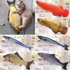 Playing Mint Interactive Kitten Catnip Stuffed Pet Cat Toys Artificial Fish
