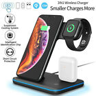 For iPhone 12 11 Pro Max XS 8 3in1 Wireless Fast Charger Charging Stand Station