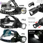 9900LM XHP90 XHP70.2 LED Headlamp Zoom USB Rechargeable Headlight Super Bright