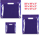 NEW BLUE COLOURED PATCH HANDLE PLASTIC CARRIER BAGS RETAIL SHOP STORE