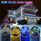 11.5FT LED Curtain Icicle Fairy Light Wedding String Party Indoor Outdoor Decor