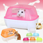 Small Pets Hamster Plastic Dustproof Bathroom Sauna Toilet Bathtub Shower Room