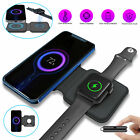 Magnetic Charging Pad Folding Dual Wireless Charger 2in1 For iPhone Apple Watch