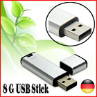 Silver 8GB 8G 8 G GB USB 2.0 Flash Data Pen Drive Memory Stick U Disk High Speed