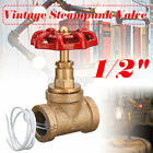 1/2'' 3/4'' Pipe Lamp Switch Valve Vintage Steampunk Industrial Iron Tabl