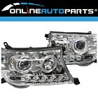Headlights Angel Eye LED Halo DRL Chrome for Toyota Landcruiser 200 Series 07-15
