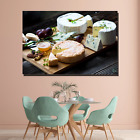 Cheeses Fruits and Nuts Kitchen Dining and Cafe Decor Canvas Art Print