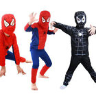 Boys Kid Costume Fancy Dress Spiderman Roleplay Cosplay Outfit Clothes Party New