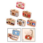 Baby Teeth Keepsake Wooden Box Cartoon Camer Style Tooth Hair Collection Box