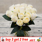 18heads Silk Rose Artificial Flowers Fake Bouquet Home Wedding Party Decor Qw
