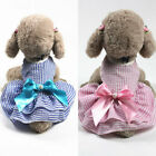 Puppy Chihuahua Bow Cupcake Princess Skirts Dress Small Dog Cat Striped Clothes