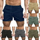 Men's Sports Training Shorts Summer Workout Fitness Gym Casual Beach Short Pants