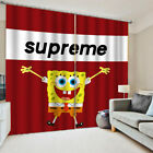 Anime Spongebob Window Curtains 2 Panels Decorative Curtain Drapes with Grommets