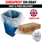 100 X Clear Refuse Sacks 140G Large Bin Liners Rubbish Waste Recycling Bags 90L