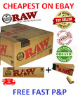 Raw Rolling Papers Classic King Size + FREE Roach Tips Genuine UK SELLER