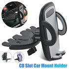 Car CD Slot 360° Mount Holder Universal Cell Phone GPS Cradle for iPhone Samsung