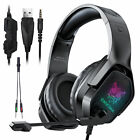 LED Surround Sound Gaming Headset Headphone for PS5/PS4/Xbox One/Nintendo Switch